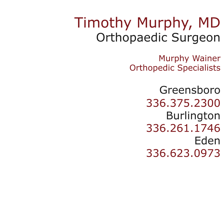 Dr  Timothy Murphy | orthopedic surgeon and sports doctor
